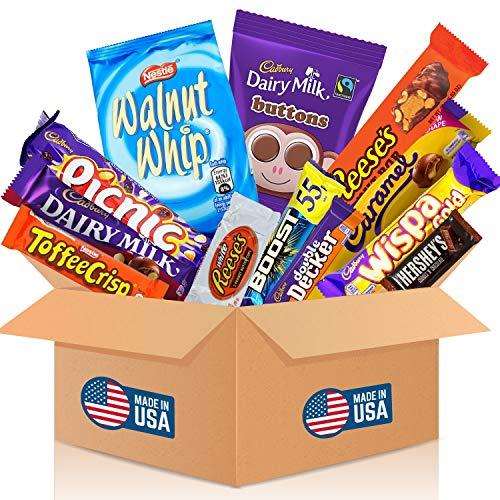 HappyLOL® 12 Teile - SüßigkeitenBox aus Amerika - XXL American Dream Party Box - Coole Geschenkidee - Hersheys - Nerds - Reeses & mehr amerikanischer Süßigkeiten Mix