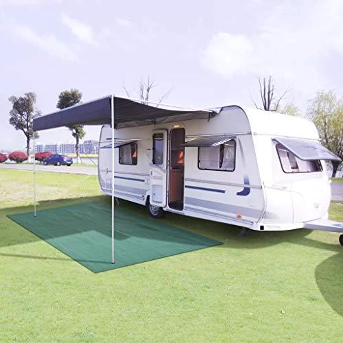 SOULONG Zeltteppich Campingteppich Vorzelt Teppich Outdoor Camping Vorzeltboden Markisenteppich Outdoorteppich, Gewebenetz mit PVC-Schaumstoffbeschichtung, Grün, 300 x 600 cm