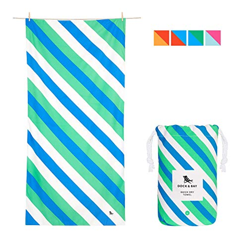 Dock & Bay Compact Travel Towels for Swim - Pacific Tide, Large (160x80cm, 63x31) - for beach, swimming and travel