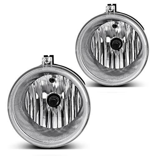 AUTOSAVER88 Fog Lights Compatible with 07-09 Chrysler 300/ 07-09 Aspen/ 05-09 Dodge Dakota/ 07-09 Durango/ 06-10 Jeep Commander/ 04-10...