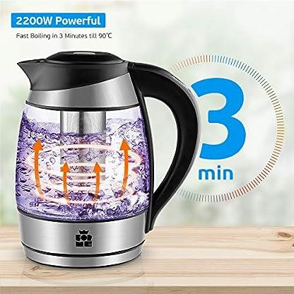 ForMe-Glas-Wasserkocher-18-L-Temperaturwahl-40-100C-Farbwechsel-LED-Temperatur-einstellbar-Glaskessel-Teesieb-Einsatz-I-Glaswasserkocher-Edelstahl-Boden-I-Teekessel-mit-Warmhaltefunktion-I-BPA-Frei