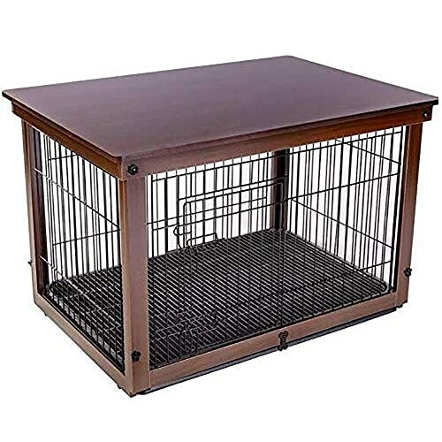 SOAR HundeKäfig für zuhause Hundebox Holz Eisen Indoor Dog Cage Small Medium und Large Hund Zaun Zaun aus Holz Katze Käfig Hund Käfig im Freien (Color : Brown)