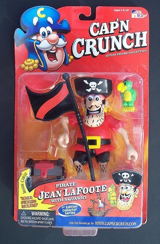 Cap'n Crunch Action Figure Collection Pirate Jean LaFoote with Squawky First Edition Collector Series by Fun House Company Ltd.