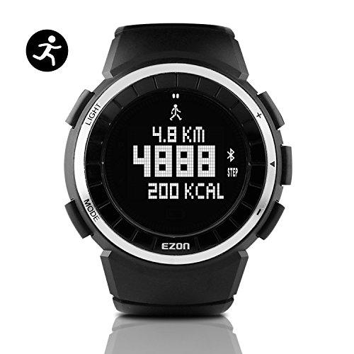 EZON Reloj Deportivo Digital para Hombre para Correr al Aire Libre con cronómetro, podómetro, Alarma, Resistente al Agua (T029)