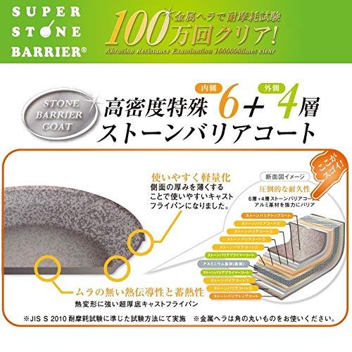 スーパーストーンバリアフライパン(24cm深型)