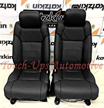KATZKIN Black Leather Seat Covers for 2014-2015-2016-2017-2018-2019 Toyota Tundra CrewMax