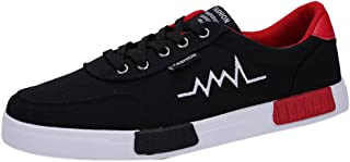 Scarpe Uomo Scarpe Casual Resistente all'Usura Sneaker Comoda Allacciata Punta Tonda (41 EU,1- Rosso)