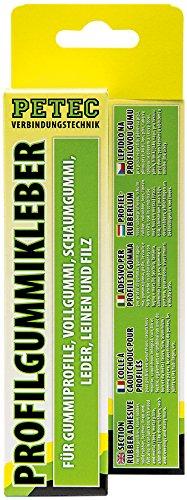 Petec 93870 Profilgummikleber gelb-transparent, 70 ml