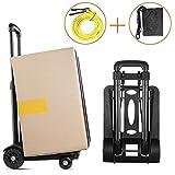 STARVAST Sackkarre, robust, faltbar, mit 4 Rädern, kompakt und leicht, für Gepäck, persönlich, Reisen, Umzug und Büro, Tragkraft 70 kg (155 Pfund)