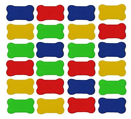 24 PAQUETES PEQUEÑAS MAGNÉTICAS PEQUEÑAS PEQUEÑA PEQUEÑA PEQUEÑA BORRADOR DE ESPONDIA ERASERSOR DE SPONERS DIRECTIVOS Borradores de pizarra (Color : Random)