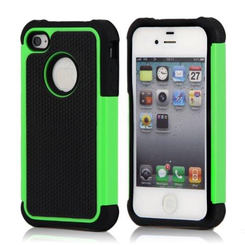 Lapinette Cover Compatibile con Apple iPhone 5-5S Antiurto - Custodia iPhone 5-5S Protezione Antiurto - Protezione Apple iPhone 5-5S Cover Antiurto Robusta Modello Spider Verde