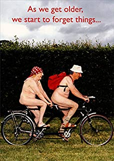 Portal Publications Forget Things Tandem Bike Couple Funny/Humorous Birthday Card