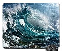 海の波の前夜に大雨新しいデザインラバーコンピューターマウスパッドマット