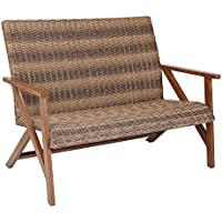 Better Homes & Gardens Fayette Patio Wicker Bench