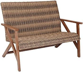 Better Homes & Gardens Fayette Patio Wicker Bench