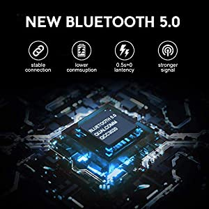 Bluetooth 5.0 Wireless Earbud Headphones IPX5 Waterproof Earbuds with 24-Hour Mini Charging Case, Built-in Integrated Microphone in-Ear Headphones, for iPhone/Samsung/Android/Apple Airpods