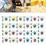 WisFox 103 Teiliges Tortenplatte Drehbar Tortenständer Kuchen Drehteller Cake Decorating Turntable mit Zuckerguss, SpritztüllenTipps-Set, und glatter, Gebäckwerkzeug für Anfänger und Profis - 5