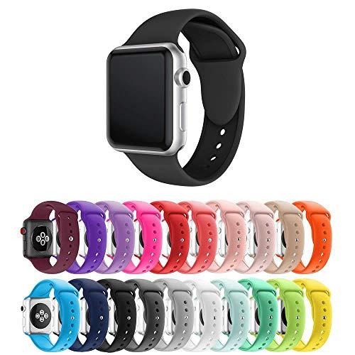 Pulseira Silicone para Apple Watch 40mm e 38mm - Preto - Tamanho S/M [P] - Marca Ltimports