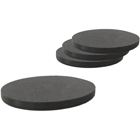 珪藻土コースター ブラック 吸水 速乾 珪藻土 キッチン 丸型 Coaster W10×D10×H0.8cm(同色4枚セット)