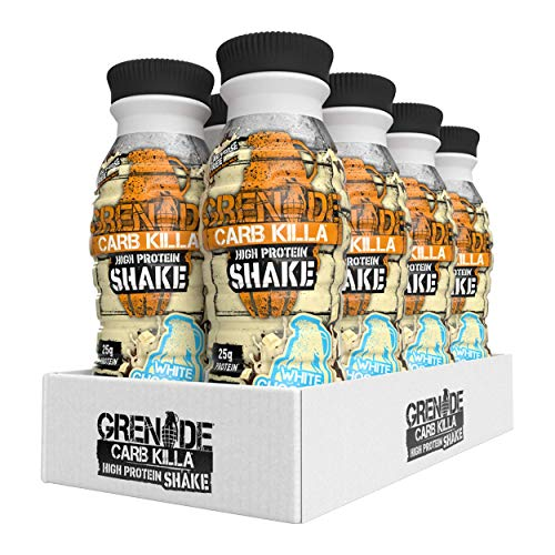 Grenade Carb Killa White Chocolate High Protein Shake, 8 x 330 ml