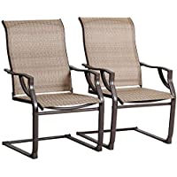 2-Piece Bali Outdoors Spring Motion Patio Dining Chairs Set