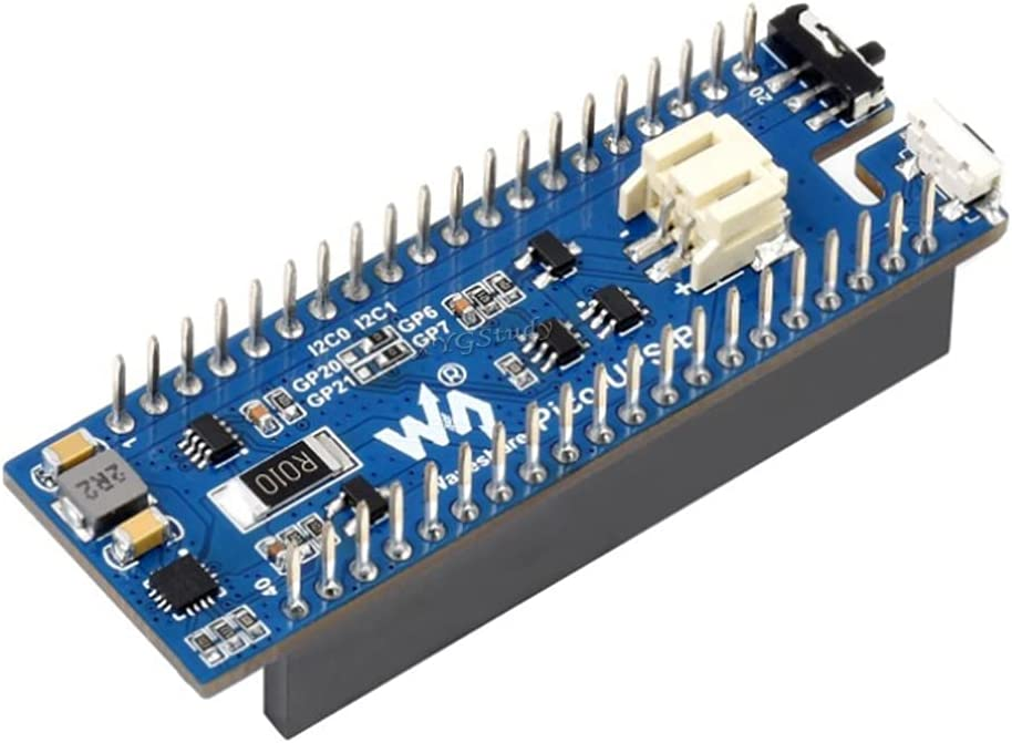 UPS Module for Raspberry Pi Pico with Uninterruptible Power Supply Li-po Battery via I2C, Stackable Design @XYGStudy (Pico-UPS-B)