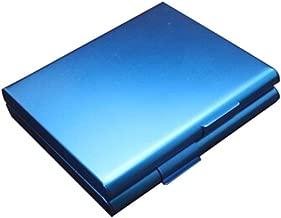 LLFG Stainless Steel Extra Slim Cigarette Case/Box (Color : Blue)