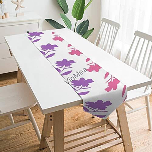 YY-one Camino de mesa estilo casa de granja rosa patrón de flores...