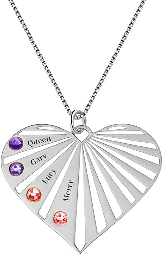 ORFAN Personalized 1-8 Family Names Engraved Mother 特売 Necklace 毎日激安特売で 営業中です for