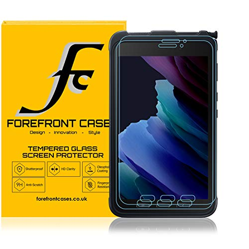 Forefront Cases Screen Protector for Samsung Galaxy Tab Active 3 8.0' SM-T575 Tempered Glass - 2 Pack - Samsung Galaxy Tab Active3 8.0 Screen Protector - 9H Scratch Resistant HD Clear 3D Touch Support