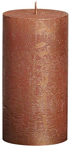 Bolsius - Vela cilíndrica de parafina, rústico, tamaño 13 cm, color cobre