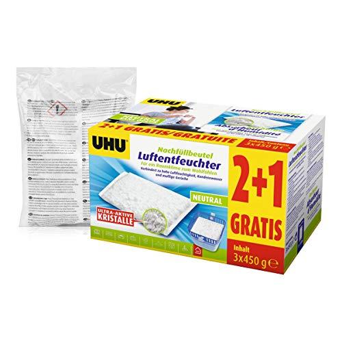 UHU 47135 airmax Luftentfeuchter Nachfüllbeutel 450g (4er Spar-Pack)