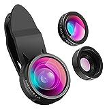 ❤【3-In-1 HD Kamera Objektiv 】- Upgrade Handy Objektiv kits, inklusive 0.4X, 140° Super-Weitwinkel-Objektiv, 198° Fisheye-Objektiv und 15x Makro-Objektiv, können Sie genießen die hohe Qualität der technischen Bilder. Jeder kann ein Fotograf in Ihrem L...