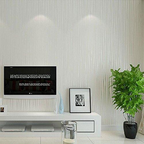 XY399 degrees Vliestapete Moderne Einfarbig Vertikale Gestreifte Tapetenbahn Schlafzimmer Wohnzimmer Hintergrund TapetenWohnkultur-in Tapeten VonHeimwerker Cremeweiß5,3㎡