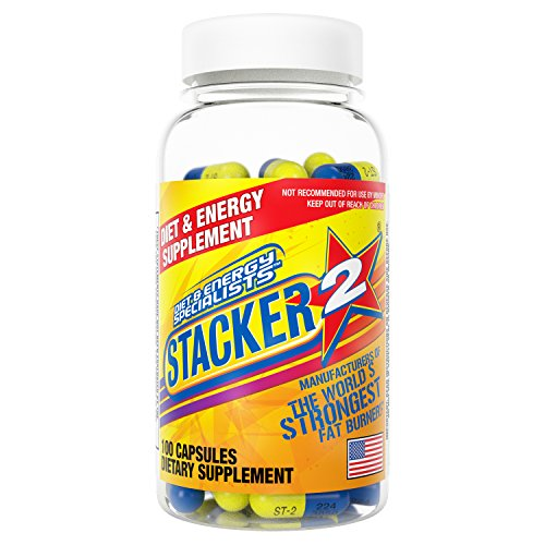 Stacker 2 Body Fat Burner and Metabolism Boosting Supplement (100 Capsules) Ephedra Free