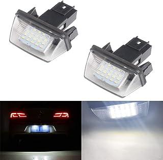 2/x LED l/ámpara de matr/ícula iluminaci/ón de matr/ícula