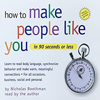How to Make People Like You in 90 Seconds or Less cover art
