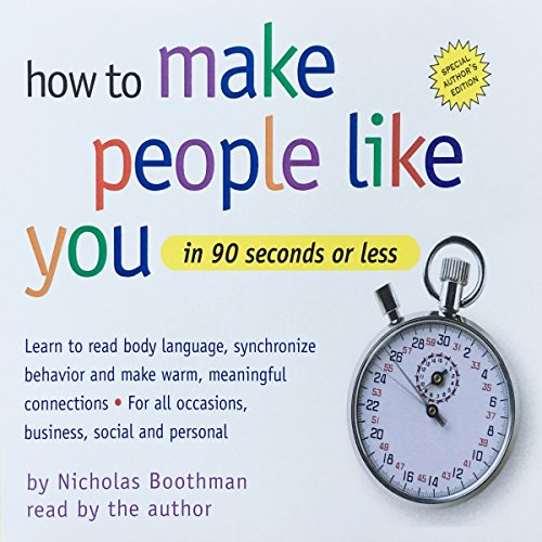 How to Make People Like You in 90 Seconds or Less audiobook cover art