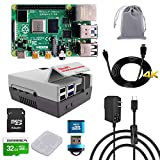 GeeekPi Raspberry Pi 4 8GB RAM Starter Kit with 32GB Micro SD Card, Nes4Pi Case, 5V 3A USB-C Power Supply, Heatsinks, Cooling Fan, Micro HDMI Cable and SD Card Reader