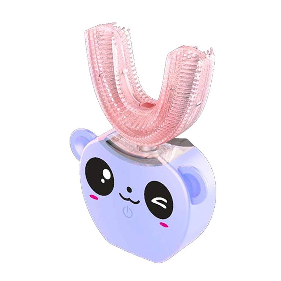 機会しなやかなギャンブルIPX7防水 怠け者牙刷-電動 U型 超音波 全方位 自動歯ブラシ ワイヤレス充電 ユニークなU字型