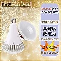 led バラストレス水銀灯 Par65 led ビーム電球 100W-1200W水銀灯の明るさ相当 led 天井照明器具 led 電球 IP66防水 無チラつき 2年保証 led看板灯 ledスポットライト 50000H長寿命 (1個, 昼白色)