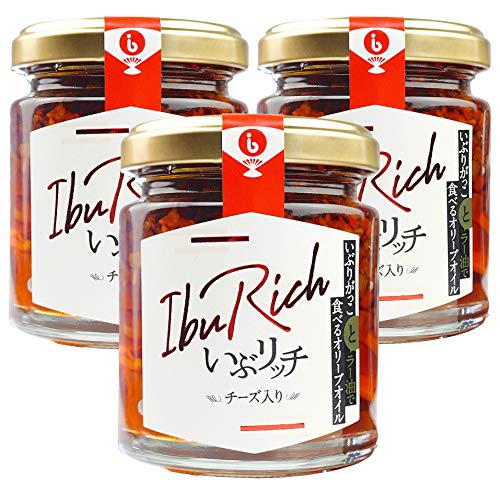 INVAST IbuRich いぶリッチ いぶりがっこ と ラー油 で 食べる オリーブオイル チーズ 入り 95g 3個セット