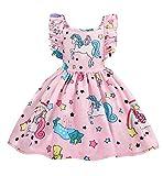 AmzBarley Vestido de Unicornio para niñas Vestidos de Princesa para niños...