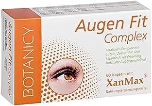 AUGEN FIT COMPLEX, einzigartiger Nährstoffkomplex, mit patentiertem XanMax, für Augen, Sehkraft und Netzhaut, hochdosiert, auch für Brillenträger 60 Kapseln, Monatspack