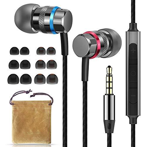 Superme Alta resolución en la Oreja Auriculares Auriculares Auriculares Auriculares de atenuación de Ruido con micrófono y Control de Volumen