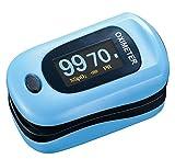 パルスオキシメーター JIS規格適合 Ciメディカル 国内検査済み 一年保証 パルスフロー (ライトブルー)