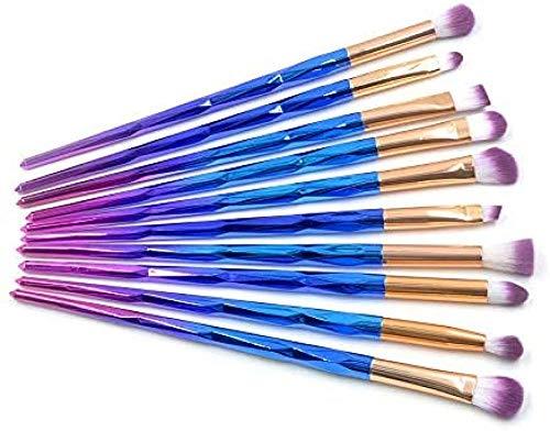 Fanxp® 10 Pcs Diamond Rainbow Makeup Brushes Sets, Eyeliner Eyeshadow Blending Brush Makeup Tools Cosmetic Set Kit