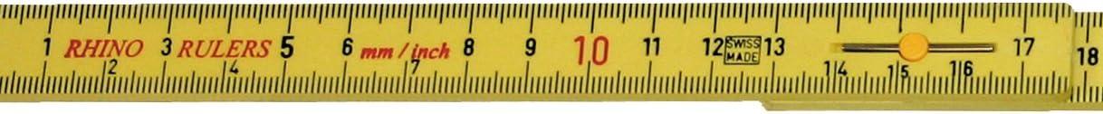Rhino Lineal zusammenklappbar 6-Feet folding ruler innen