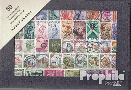 Prophila Collection Italia 50 Diversi Francobolli Speciali e Large Format (Francobolli per i Collezionisti)