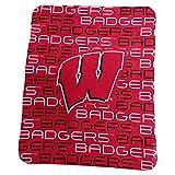 Logo Brands NCAA Wisconsin Badgers Classic Fleece, One Size